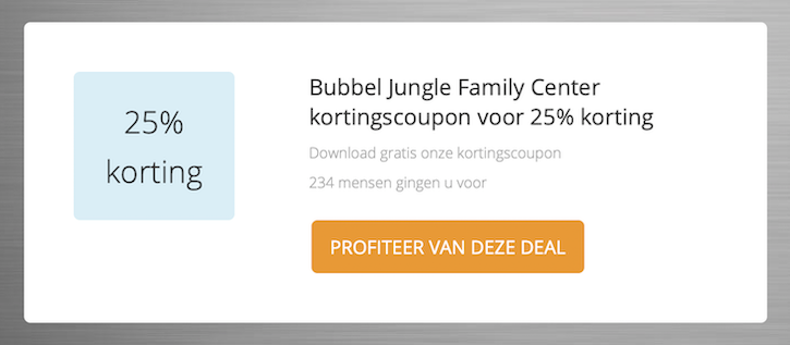 Bubbel Jungle Kortingscoupon
